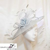 Pale blue mother of the bride hatinator 14781